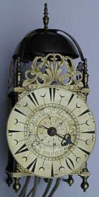 lantern clock made about 1710 signed 'Markwick Markham London'