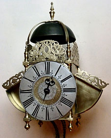 A 'sleepy' centre-pendulum clock with wings, made about 1680-90 by John May