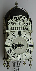 lantern clock made about 1690 by John Michell of Chardstock