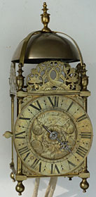 Charles II period lantern clock by 'William Millin of Islington fecit'