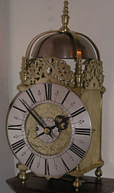 Lantern clock of the late 1690s by Daniel Moore of London