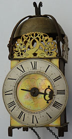 Rare iron blacksmith-work lantern clock, made in the 1680s by Richard Morley of Idlicote, Warwickshire