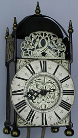 Primitive anonymous iron blacksmith lantern clock late seventeenth century