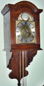 Thirty-hour hooded wall clock c.1770 by Thomas Ranger of Chipstead
