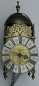 Lantern clock of about 1710 by Richard Rayment of Bury St. Edmunds