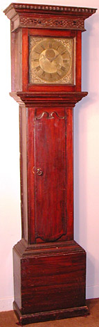 Thirty-hour longcase clock made about 1760 by Richard Marshall of Wolsingham, County Durham