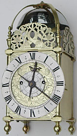 Lantern clock of the mid seventeenth century by Robinson of London