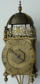 Cromwellian period lantern clock by Robert Robinson of London