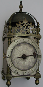 lantern clock from the workshop of Robert Harvey of London, who died in 1615