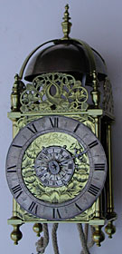 Lantern clock by Robert Robinson of London mid seventeenth century