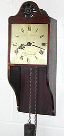 Hooded clock, about 1780, by Thomas Shepherd of Wootton under Edge, Gloucestershire