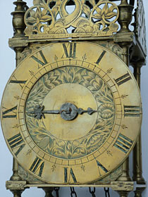 very rare Civil War period lantern clock made in the early 1660s by Lawrence Sindry of London