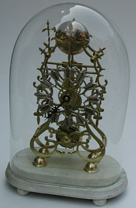 Skeleton clock, late nineteenth century