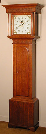 Late eighteenth-century thirty-hour longcase clock by Will Snow of Padside