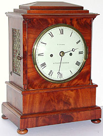 bracket clock made about 1830-40 by Thomas Snow of Knaresborough, Yorkshire