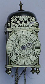 Miniature lantern alarm timepiece by Edward Speakman of London