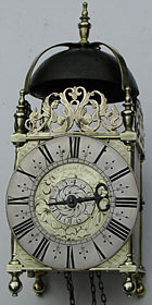lantern clock made in the 1670s or 1680s by Edward Stanton of London