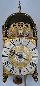 A lantern clock of the 1670s to 1680s by Edward Stanton of London