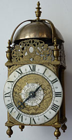 lantern clock by Edward Stanton of London, dating from the late 1660s or 1670s