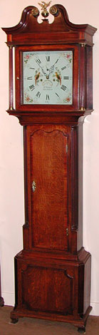Eight-day clock made about 1785 by John Stanyer of Nantwich