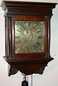 Hooded clock made about 1765 by Richard Stephens, Bridgenorth, Shropshire
