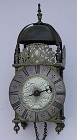 rare lantern clock by the celebrated Peter Stretch, made in Leek in the late 1690s