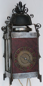17th century Swedish Gothic iron chamber clock
