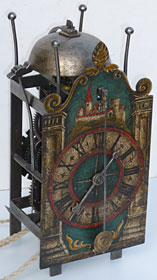 17th century Swiss Gothic iron chamber clock
