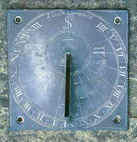 Six-inch sundial c.1600 by Isaac Symmes of London