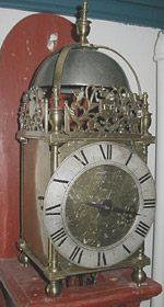 Lantern clock by Thomas Loomes of London c.1650s