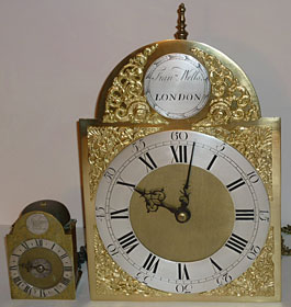 miniature gentleman's travelling alarm clock or pantry clock made about 1750 by Samuel Toulmin of London