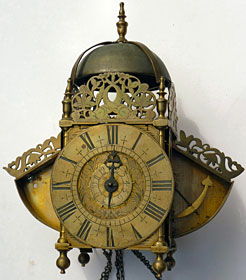 Winged lantern clock made about 1705 by Samuel Townson of London