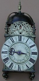 Late seventeenth century lantern clock by Thomas Power of Wellingborough