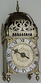 lantern clock by Thomas Tue of King's Lynn, Norfolk, dated 5th December 1663