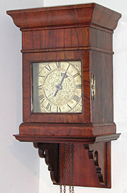 Unsigned hooded clock of the later seventeenth century with unique movement