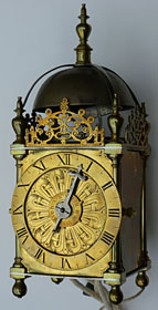 Early English lantern clock made about 1610, unsigned, probably London