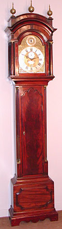 Eight-day longcase clock in mahogany, 1770s, by James Upjohn of London