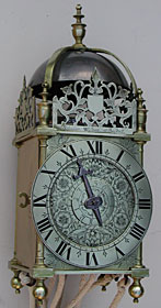 rare lantern clock made in the 1640s by Solomon Wasson of Bristol