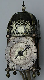 rare lantern clock monogrammed WC and dated 1635