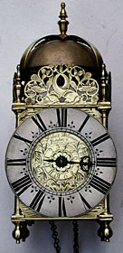 rare lantern clock of the 1680 by Robert Williamson of London