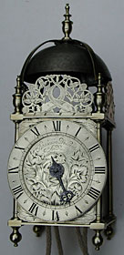 lantern clock by Benjamin Wolverston of London, dating from the 1650s-60s