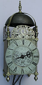 Lantern clock made in the 1680s by Francis Wright of Woodston