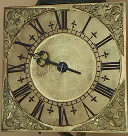 Hook-and-spike wall clock, early eighteenth century by an unsigned Oxfordshire Quaker maker