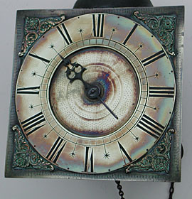 early eighteenth century (1730s) hook-and-spike wall clock